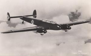 Unidentified WW2 Plane Military Liverpool War 6 Real Photo Aircraft Postcard