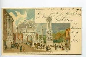 New York NY Broadway & Fifth PMC Tuck Postcard