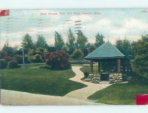 Divided-Back PARK SCENE Lowell Massachusetts MA H3858