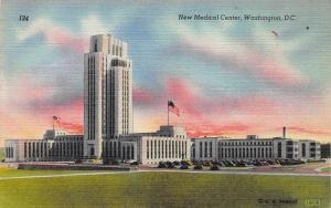 New Medical Center, Washington, D.C., Early Linen Postcard, Unused