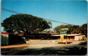 1950s St. Augustine, Florida Postcard FOUNTAIN COURT Motel Highway 1 Roadside