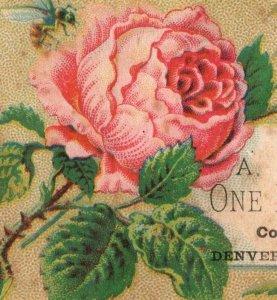 1880's A. Jacobs & Co. One Price Clothier Denver, CO Trade Card F102