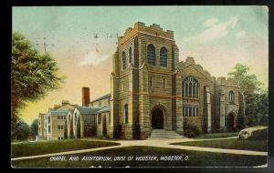 Chapel University of Wooster Ohio birdseye view used c1907
