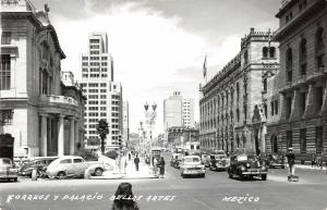 Mexico City Mexico Correos & Palacio Bellas Artes Real Photo Antique PC (J22900)