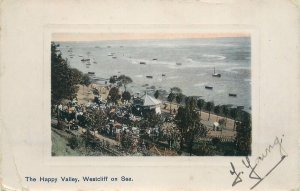 Postcard England Happy Valley Westcliff-on-Sea general view