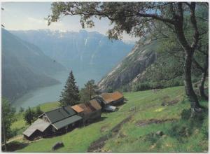 KJEASEN, HARDANGER, NORWAY, used Postcard