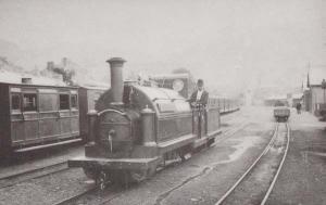 The Welsh Pony Festiniog Narrow Guage Railway Train Driver Wales Postcard
