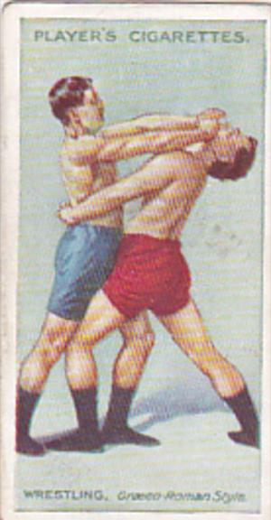 Cigarette Card Player and Sons Wrestling & Ju-Jitsu 1913 No 2 Parrying The Wa...