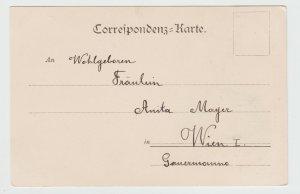 Vintage Postcard Gruss aus Wien 1897 Ernest van Dyck Vienna Austria