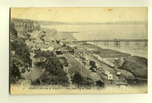h0514 - View from top of Chine Shanklin , Isle of Wight - postcard LL 1