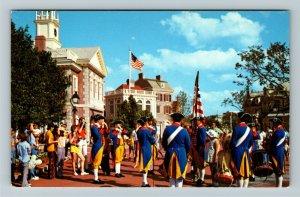 Orlando FL- Florida, Disney World, Liberty Square Drum and Fife, Chrome Postcard