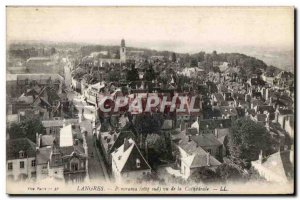Old Postcard Langres Panorama (south side) view of the Cathedral