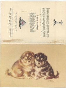 Alaska Line, S. S. BARANOF, July 14, 1949; Breakfast Menu, Husky Puppies