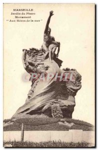 Old Postcard Marseille Pharo Garden Monument To the Sea Heroes