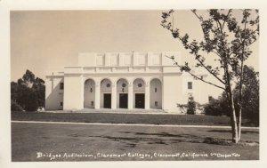 RP: CLAREMONT , California, 1910-20s ; Bridges Auditorium , Claremont Colleges