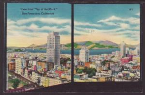 View From Top of the Mark,San Fransisco,CA Postcard