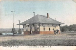 East Tilton New Hampshire Lochmere Train Station Vintage Postcard AA43052