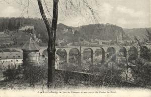 CPA Luxembourg Vue de Clausen et une partie du Viaduc du Nord (30747)