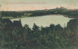 Lily Lake in Rockwood Park - St John NB, New Brunswick, Canada - pm 1906