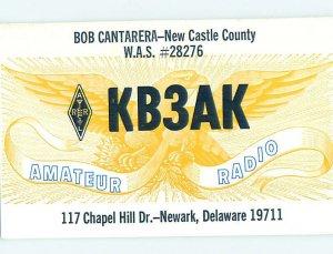 Pre-1980 RADIO CARD - CB HAM OR QSL Newark Delaware DE AH2564
