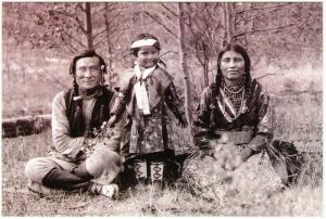 Beaver Family Blackfoot Niitsitapi in Alberta Native American Modern Postcard