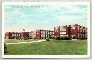 Belleville Illinois~Township High School~View of Buildings Across Lawn~1932