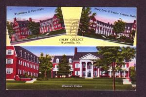 ME Multi Views COLBY COLLEGE WATERVILLE MAINE POSTCARD