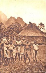 Fiji Oceania Fijian Children Raphael Tuck Postcard