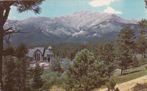 Colorado Mt Meeker and St Malo Church In St Vrain Canyon Near Estes Park