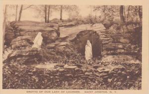 New York Saint Josephs Grotto Of Our Lady Of Lourdes Albertype