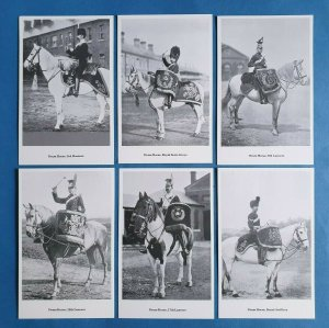 The British Army - DRUM HORSES Postcards Set of 6 by Geoff White Ltd