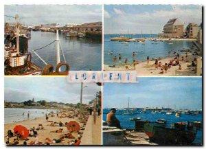 Postcard Modern Brittany Lorient Port Petit Port beach Toulhars Base underwat...