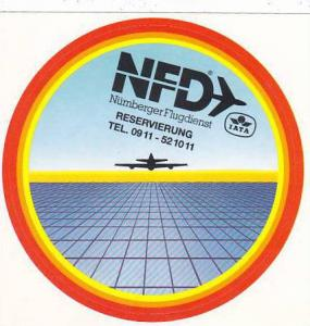 NUERNBERGER FLUGDIENST AVIATION LABEL