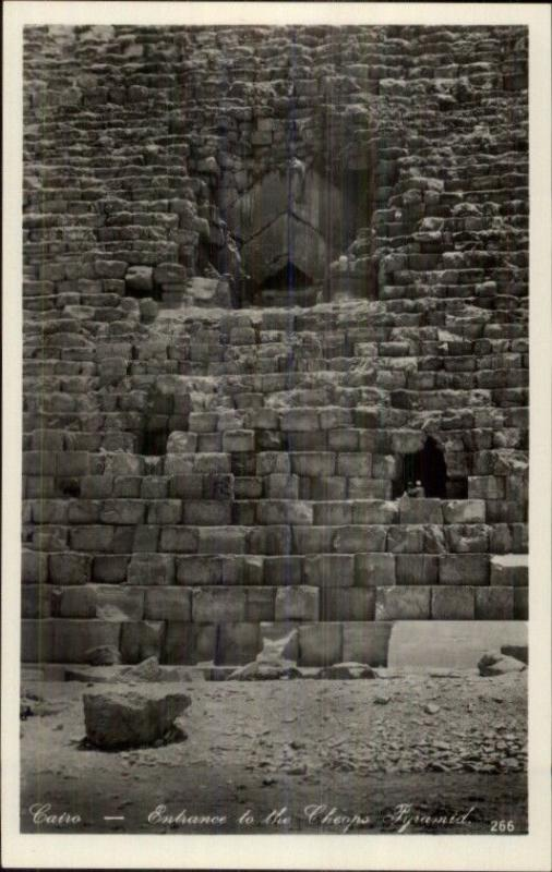 Cairo Egypt Steps of Cheops Pyramid Real Photo Postcard #2