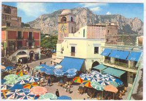 Bird´s Eye View, La piazzetta, The Small Square, Capri, Naple, Campania, It...