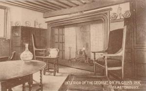 Interior of the George, or, Pilgrim's Inn, Glastonbury, Somerset, England, ...