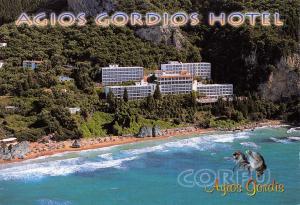 Postcard Agios Gordios Hotel, Corfu, Greece F79
