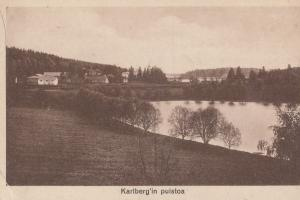 Karlberg In Pulstoa Finland Antique Postcard