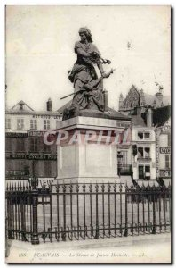 Beauvais - The Statue of Jeanne Hachette - Old Postcard
