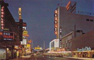 Nevada Reno Virginia Street Casino Row At Night sk3736