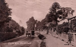 Castle Hill Maidenhead Berkshire Old Postcard