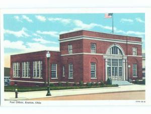 Unused Linen POST OFFICE Kenton - Near Lima & Marion & Findlay Ohio OH d8621