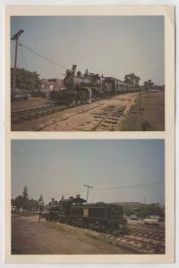 Valley Railroad Company 2 Multi View of Restored Steam Trains Essex CT Postcard