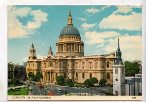 LONDON, St. Paul's Cathedral, used Postcard