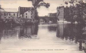 Vermont Middlebury Otter Creek Showing Battle Bridge Artvue