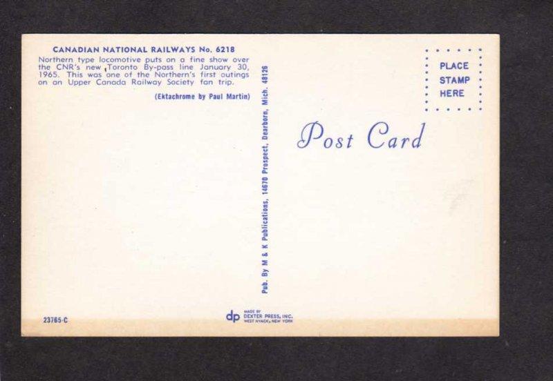 ON Canadian National Railroad Train Toronto Ontario Carte Postale Canada