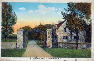 [ American Art ] US NY Fort Ticonderoga - Gate House (Color)