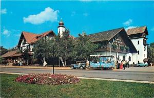 Frankenmuth Michigan~Bavarian Inn~Concession~Tourist Jeep Train~1977 Postcard