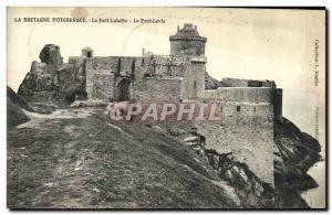 Old Postcard Brittany Picturesque Fort Lalatte The Pont Levis
