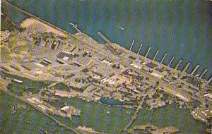 Connecticut New London Groton Aerial View U S Naval Submarine Base 1970
